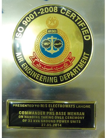 Appriciation Award from Pak Navy-2014